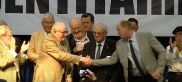 Roger Holeinde, Roland Hélie, Jean-Marie Le Pen.