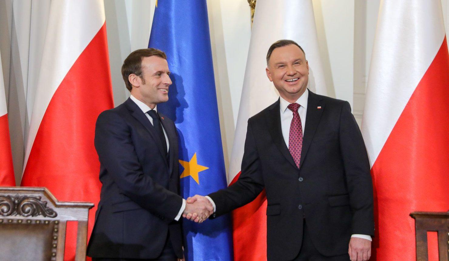 Emmanuel Macron et Andrzej Duda.