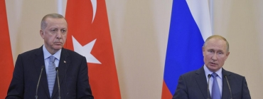 Les présidents Erdogan et Poutine.