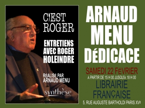 dedicace Arnaud Menu Roger Holeindre