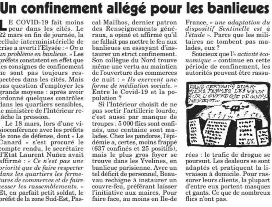 """Article du """"Canard enchainé""""."""