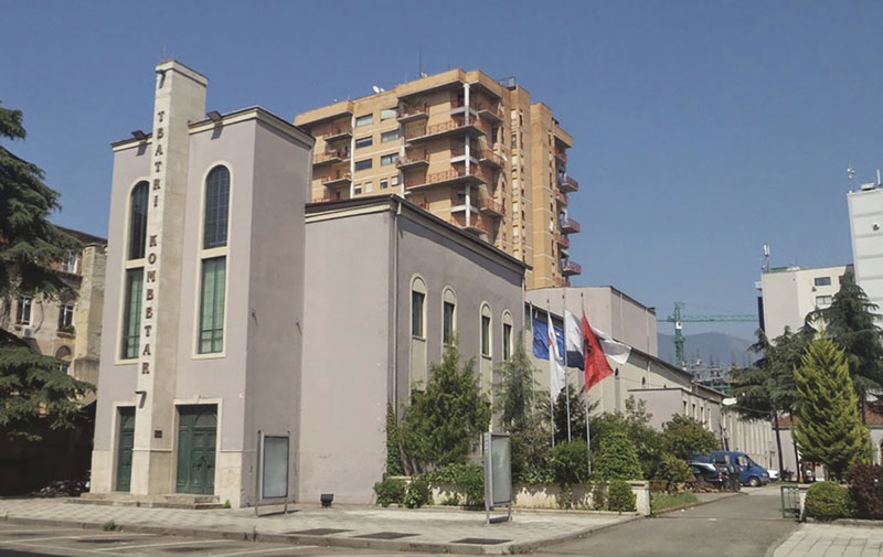Le theâtre de Ttijana en Albanie.