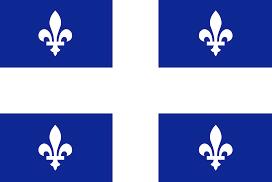 Le drapeau du Québec.