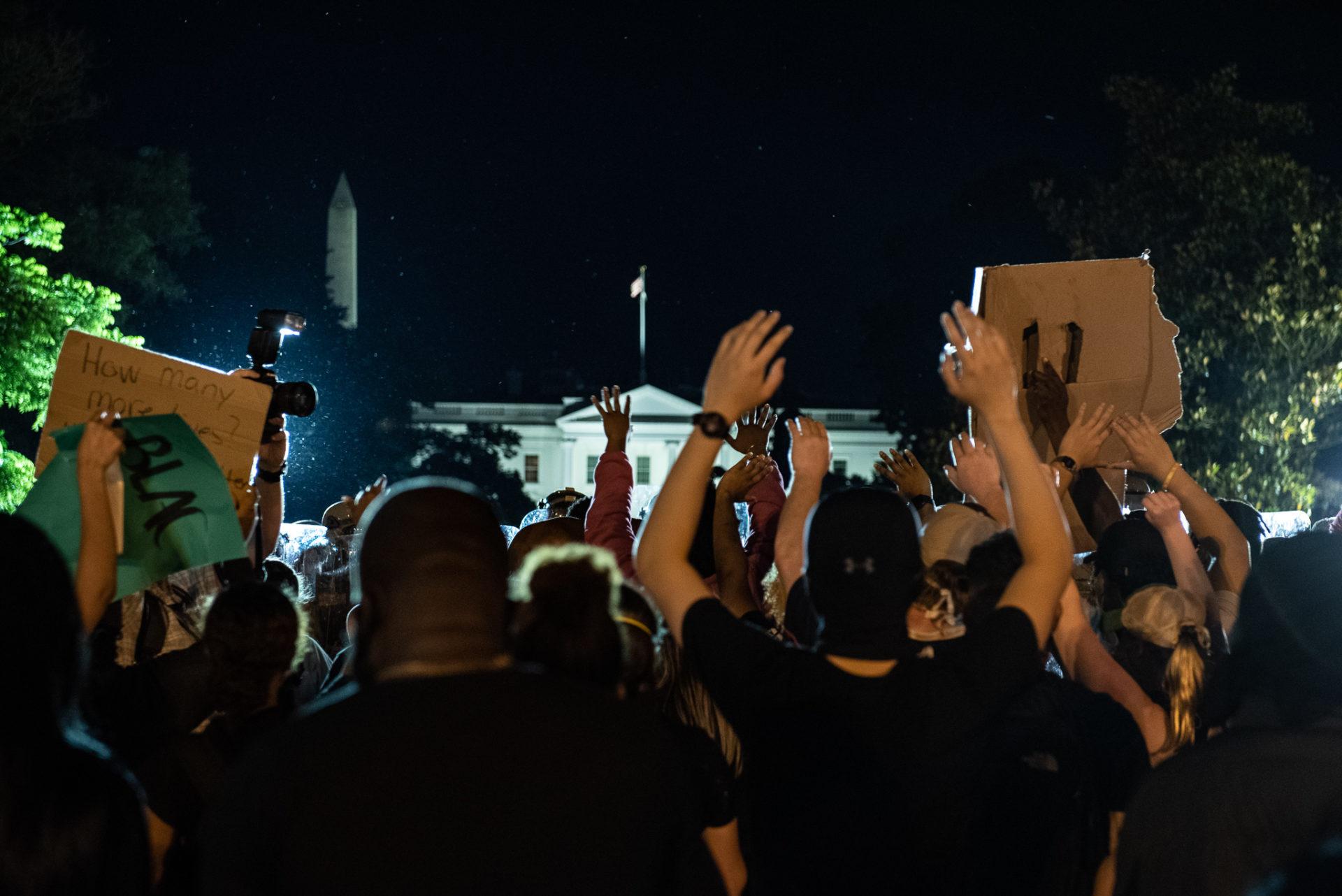 Manifestation suite à la mort de George Floyd.